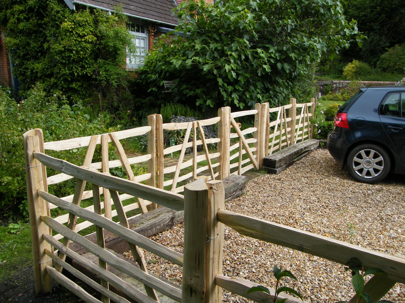 wooden fencing by fence makers, Wiltshire